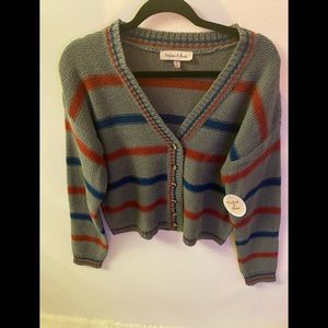 Harlow & Rose  button Down striped cardigan M